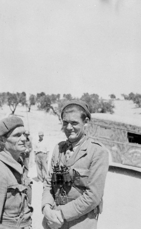 Chapayev (Yugoslav Commander) and Fred Copeman of the British Battalion.  Source: Moscow Archive Photo 177_177024.  Tamiment Library, NYU